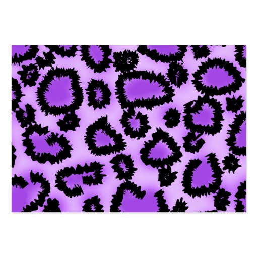 Purple and Black Leopard Print Pattern. Large Business Cards (Pack Of 100)