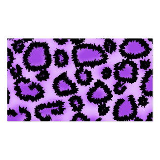 Purple and Black Leopard Print Pattern. Business Card Template