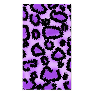 Purple and Black Leopard Print Pattern. Business Cards