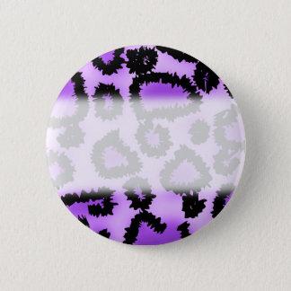 Purple and Black Leopard Print Pattern. Button