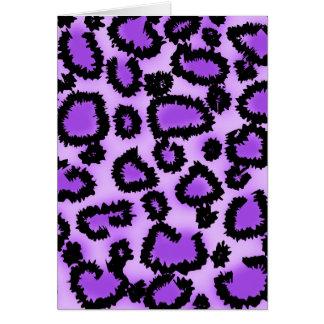 Purple and Black Leopard Print Pattern. Card