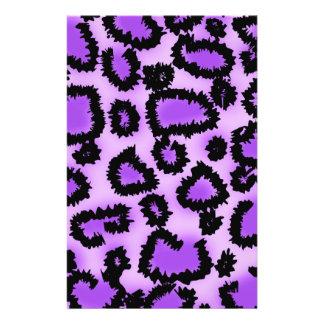 Purple and Black Leopard Print Pattern. Flyer