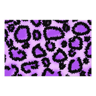 Purple and Black Leopard Print Pattern. Personalized Flyer