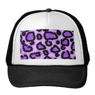 Purple and Black Leopard Print Pattern. Trucker Hat
