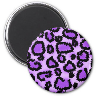 Purple and Black Leopard Print Pattern. Magnet