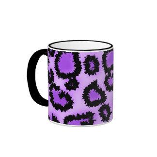 Purple and Black Leopard Print Pattern. Mug