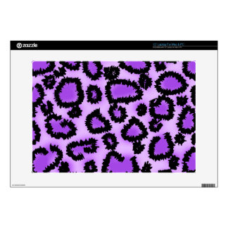 "Purple and Black Leopard Print Pattern 15"" Laptop Skins"