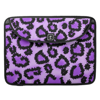 Purple and Black Leopard Print Pattern. Sleeves For MacBooks