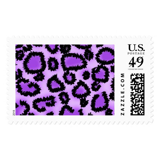 Purple and Black Leopard Print Pattern. Stamp
