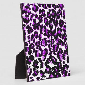 Purple and Black Leopard Print Plaque