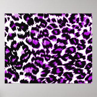 Purple and Black Leopard Print