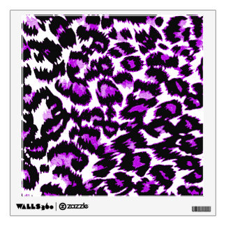 Purple and Black Leopard Print Wall Decals