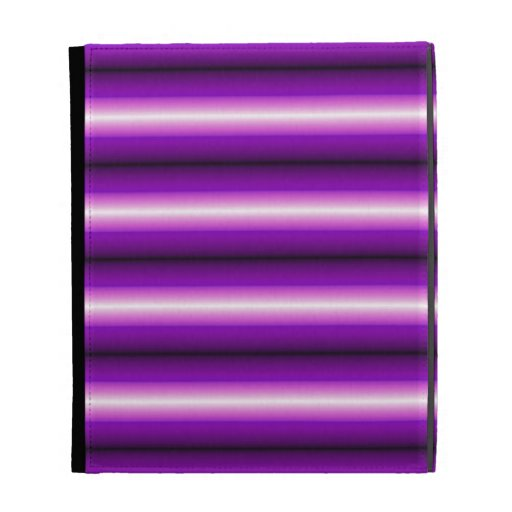 Purple and black Line iPad Folio Covers