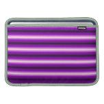 Purple and black Line MacBook Air Sleeves