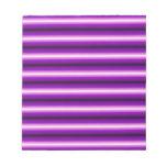 Purple and black Line Scratch Pads