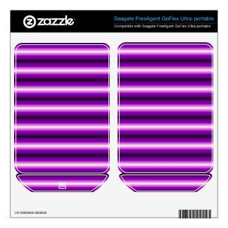 Purple and black Line FreeAgent GoFlex Skin