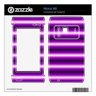 Purple and black Line Skins For Nokia N8