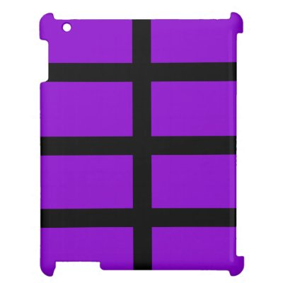 Purple and Black Lines Cover For The iPad 2 3 4