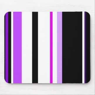 Purple And Black Lines Mousepad
