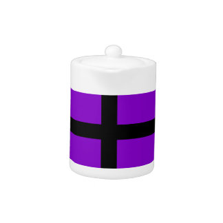 Purple and Black Lines Teapot