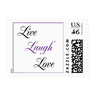 Purple and Black Live Laugh Love Stamps