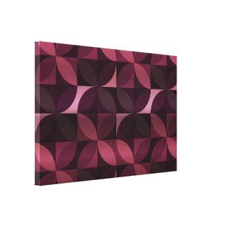 Purple and Black Modern Pattern Canvas Print