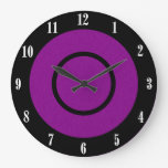 Purple and Black Modern Wall Clock