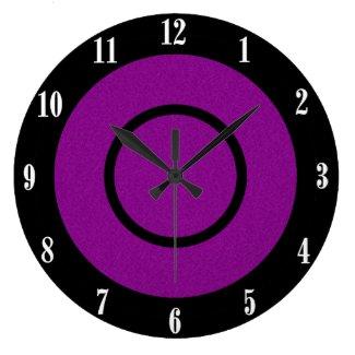 Purple and Black Modern Wall Clock