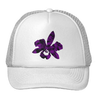 Purple and Black Mottled Iris Trucker Hat