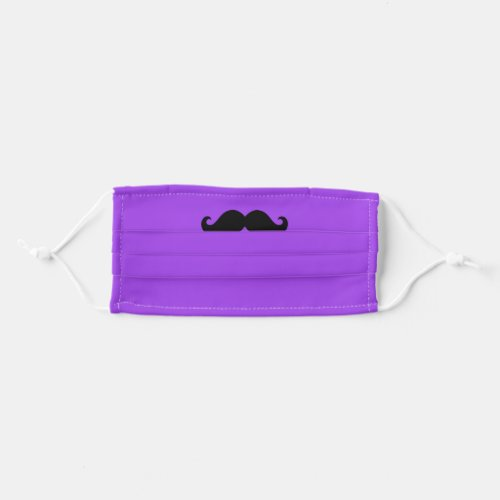 Purple and Black Mustache Cloth Face Mask