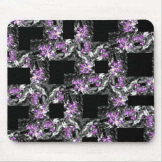 Purple and Black Pattern Mouspad Mouse Pad
