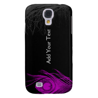 Purple and Black Peacock Samsung Galaxy S4 Cases