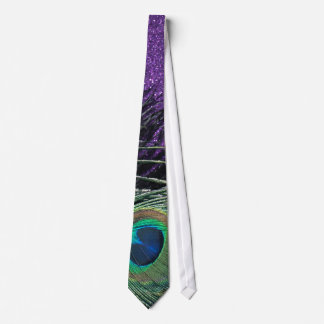 Purple and Black Peacock Tie