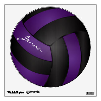 Purple and Black Personalize Volleyball Wall Graphics