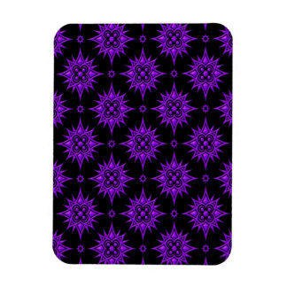 Purple and Black Star Pattern Magnet