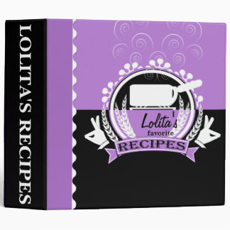 Purple and Black Stovetop Hot Pot Recipe Binder