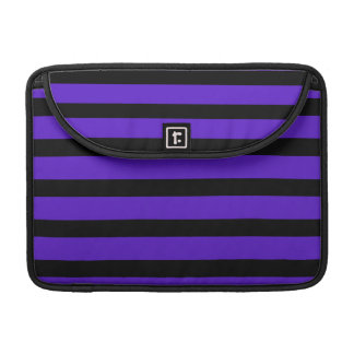 Purple and Black Stripe Customizable Design Things Sleeve For MacBook Pro