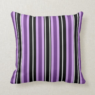 Purple And Black - Striped Mojo Pillow Pillows