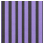 [ Thumbnail: Purple and Black Striped Pattern Fabric ]