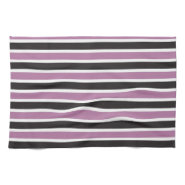 Purple and Black Striped Pattern Kitchen Towel