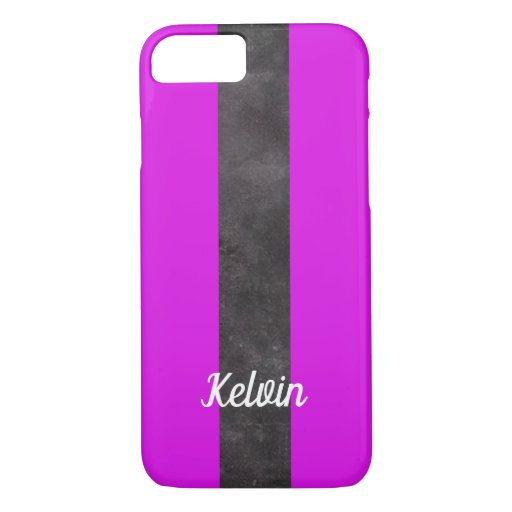 Purple and black stripes iPhone 8/7 case