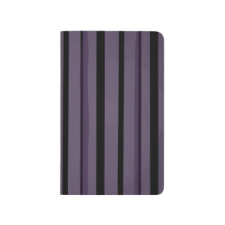 Purple and Black Stripes Journals