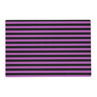 Purple and Black Stripes Laminated Placemat