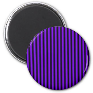 Purple and Black Stripes Magnet