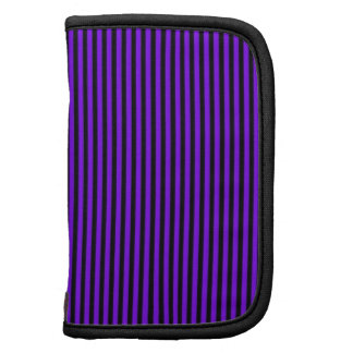 Purple and Black Stripes Planners