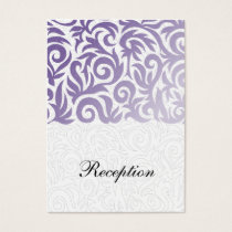 purple and Black Swirling Border Wedding Business Card