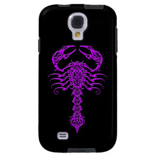 Purple and Black Tribal Scorpion Galaxy S4 Case