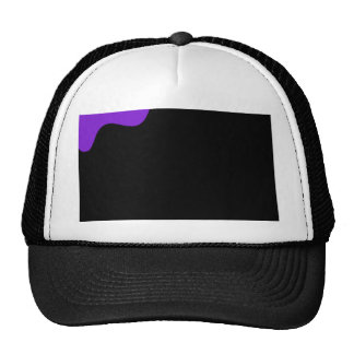Purple and black trucker hat