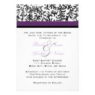 Purple and Black Wedding Invitation