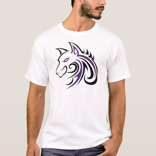 Purple and Black wolf head_43713.jpg T-Shirt